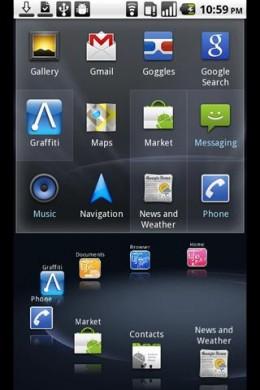 Netfront Life Screen, left half
