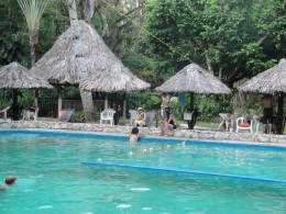 Pool at The Maya Bell (our accommodations) in Palenque, Mexico.