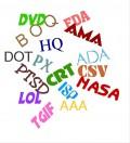 Common Abbreviations:  Alphabet Soup Runs Rampant
