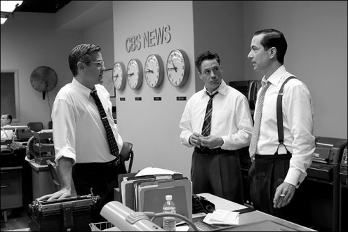 And that's the way it was: from left, George Clooney as Fred Friendly, Robert Downey Jr. as Joe Wershba and David Strathairn as Edward R. Murrow.