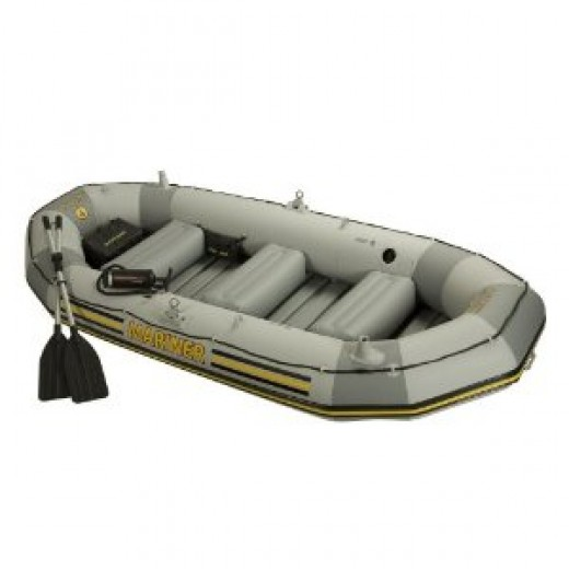 Intex 4 Person Mariner Inflatable Boat Set