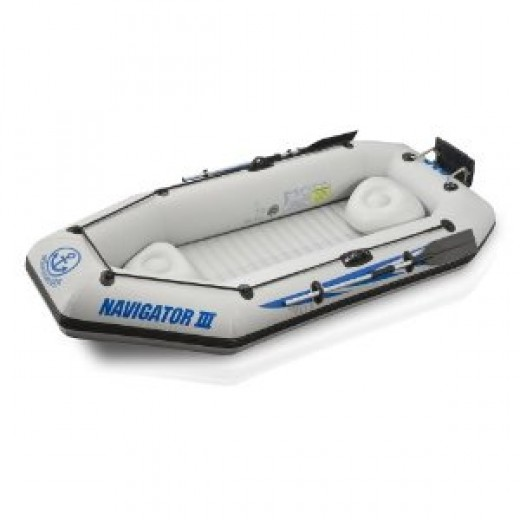 RST Marine Navigator III 400 4-Person Lake and Recreation Inflatable Boat