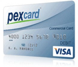 PEX prepaid Visa Business Card