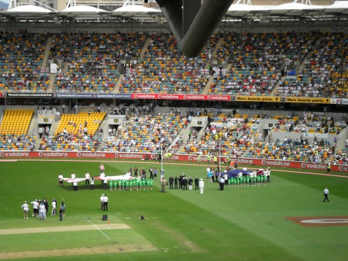 The Ashes first day November 2010, Gabba, Queensland, Australia - a minute's silence