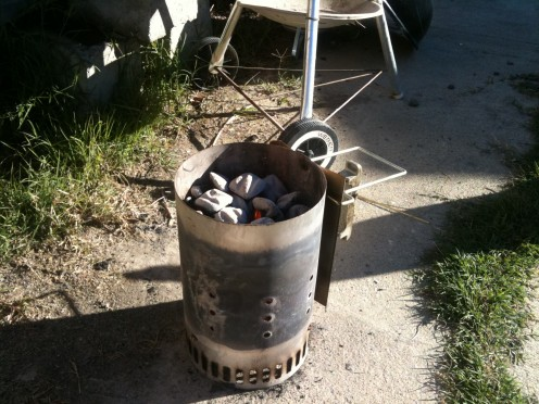 Use a charcoal chimney to prepare your coals.