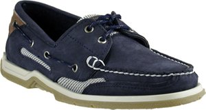 Sebago Womens Clovehitch Indigo Nubuck/Brown Boat