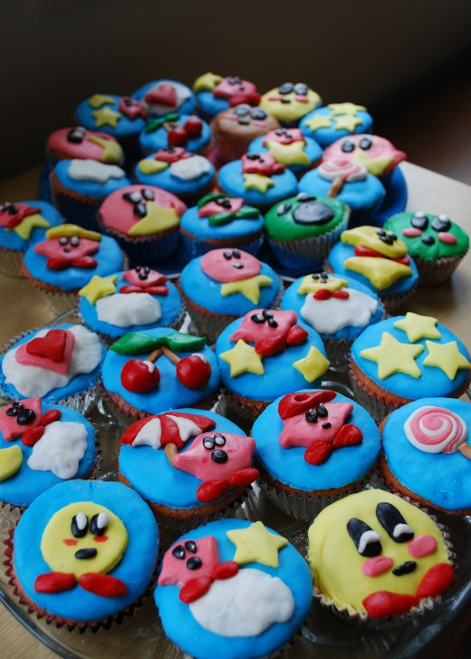 Cupcakes are fun for birthday parties.