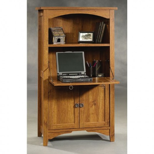 Abbey Oak Laptop Computer Armoire