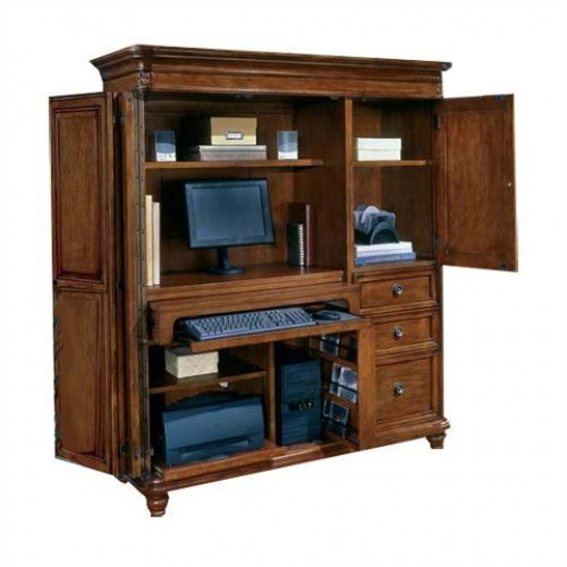 Antigua West Indies Cherry Computer Armoire