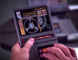 Star Trek's tablet devices, originally depicted in the series long before anything like this could actually be built.