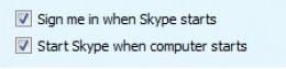 Diagram 3. Skypes Auto Login check boxes