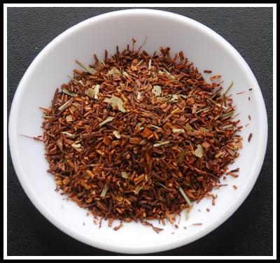red tea leaves