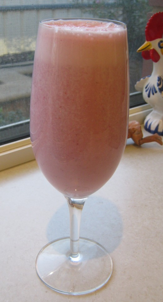 Strawberry and vanilla smoothie