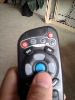 Hit OK to put a cursor in the window on your TV screen.