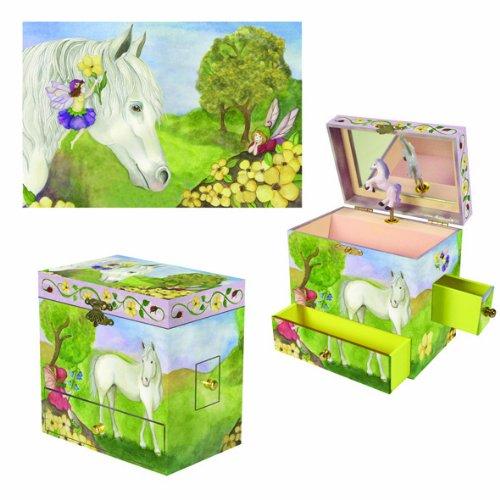 "Horse & Fairy"" Musical  Jewelry Treasure Box"