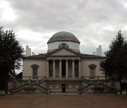 Chiswick House (1729) designed by William Kent and Lord Burlington
