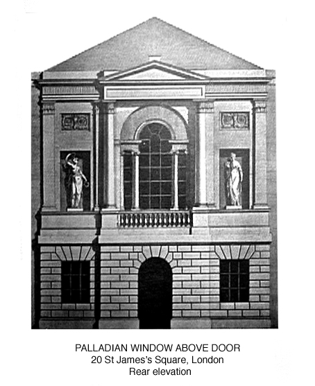 This building demonstrates Adam's interpretation of the most enduring of all Palladian architectural features, the Serlian arch.