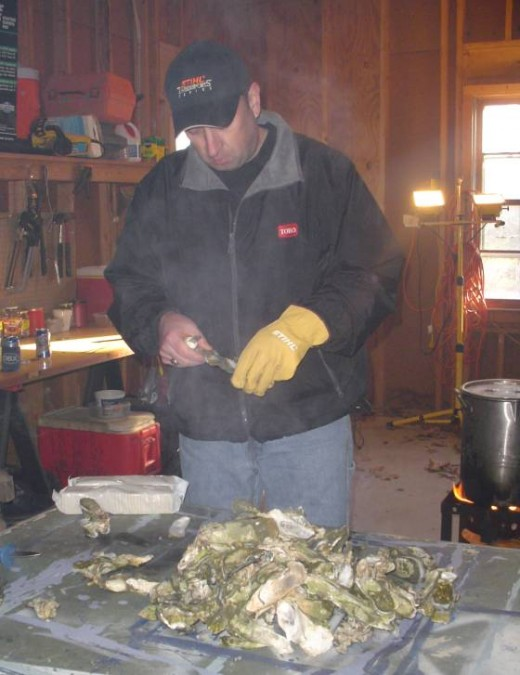 Family Celebrates Old Christmas with an Oyster Roast