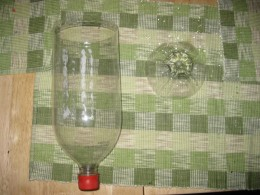 Plastic soda bottle (2-liter and clear)