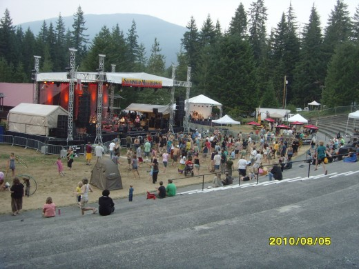 The main stage on the Thursday of the four-day weekend event