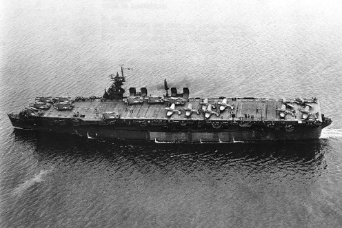 USS Independence light aircraft carrier in service (before)