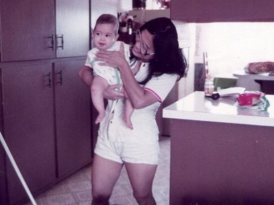 Baby Jessica with her Filipina mother Inez