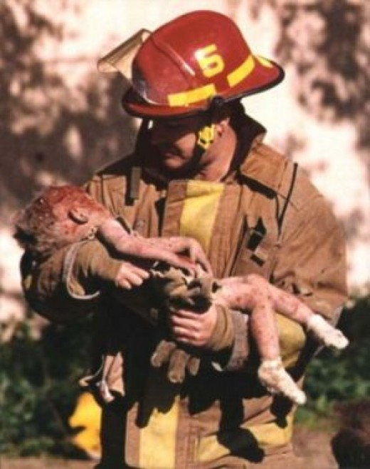 A modern-day hero at the site of the Oklahoma City Bombing