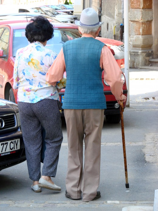 This elderly couple appear to have had a good innings.