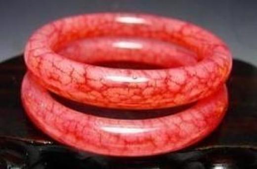 Fire Jade (Chicken Blood Jade) Bracelets