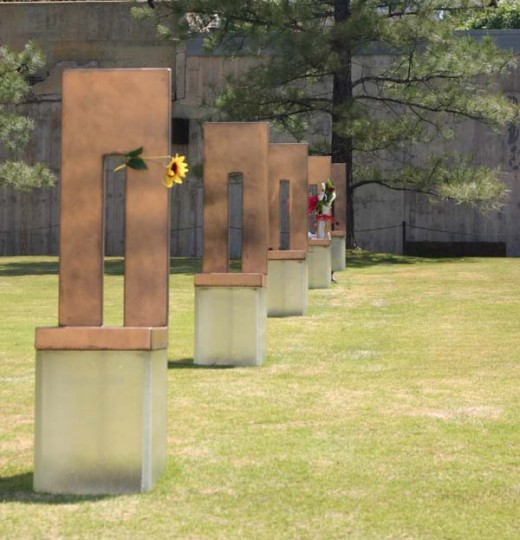 The Field of Empty Chairs at the Oklahoma City National Memorial and Museum