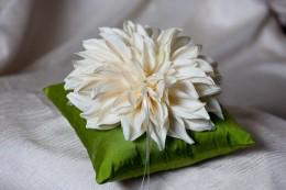 Who wouldn't want a huge fluffy silk flower?