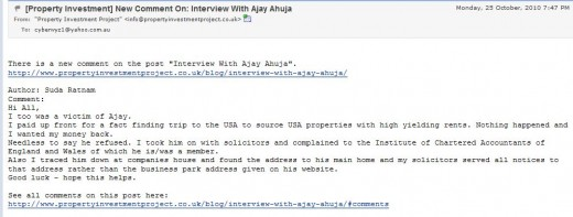 CLICK above to read about another victim of Ajay Ahuja