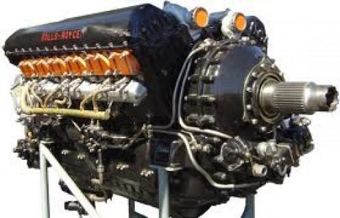 A Rolls Royce Merlin Engine