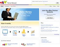 E-bay Partner Network screenshot.