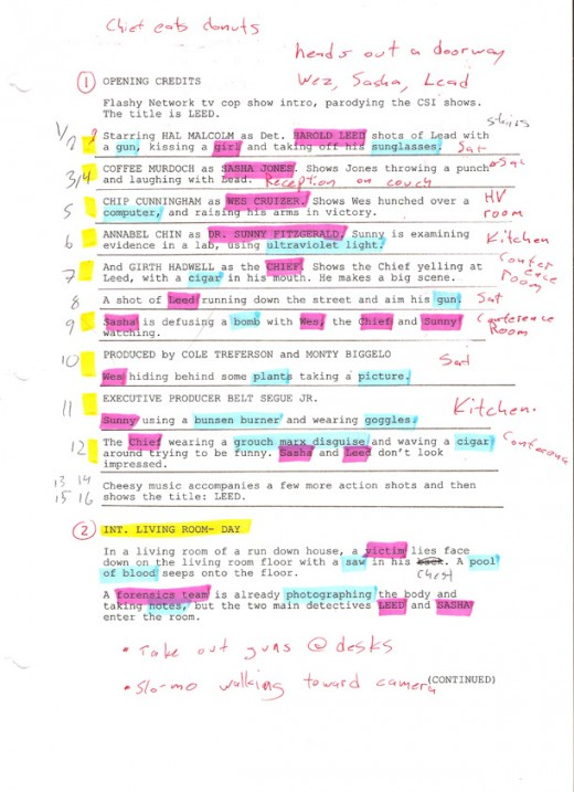 How to do a Script Breakdown | hubpages