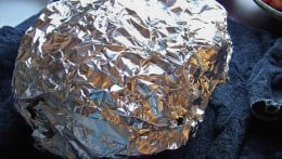 A foil shield will keep your turkey's skin from burning during the roasting process.