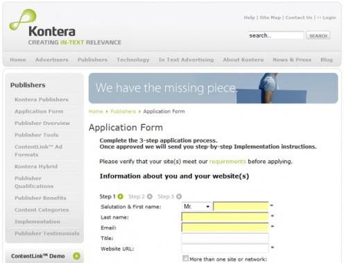 Kontera screenshot