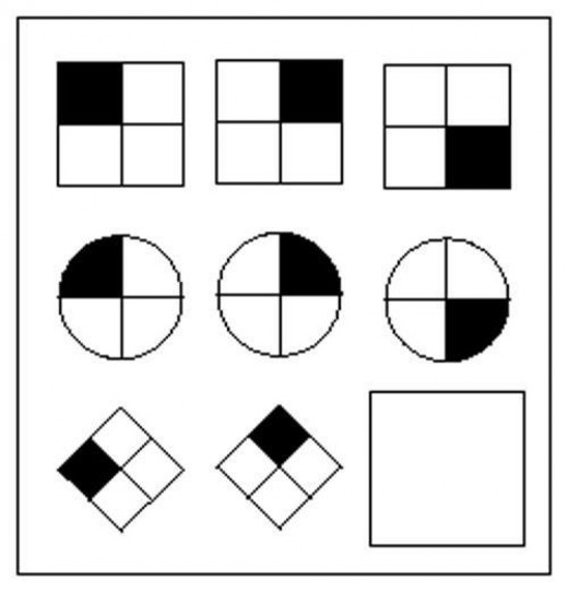 Example of a matrix puzzle