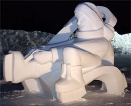 Huge snow  sculpture greets Carnival visitors
