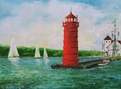 Discover the Lighthouse and Nautical Canvas Art of Artist Frank Roosa!