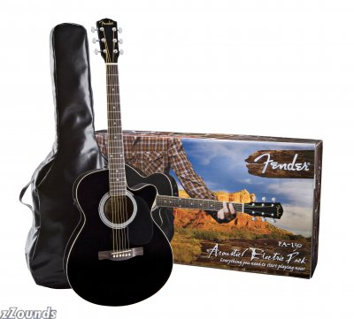 Model Name: FA-130 Acoustic/Electric Pack Model Number: 095-0810-100 Series: Concert Guitar Series Body Style: Concert Colors: (100) Black Finish: Gloss Polyurethane Top: Laminated Spruce Bracing: X Bracing Back and Sides: Laminated Basswood