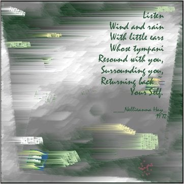 Graphic art & poem by Nellieanna Hay