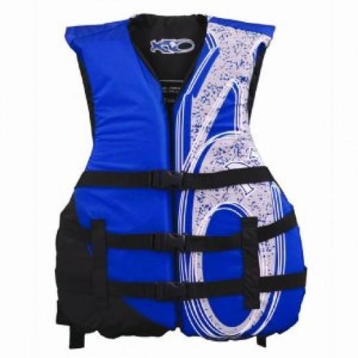 X20 Universal Adult Life Jacket Vest - Blue & Black