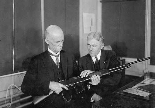 John Browning with a BAR