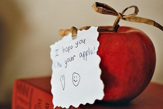 Apples are the old teacher gift standby!