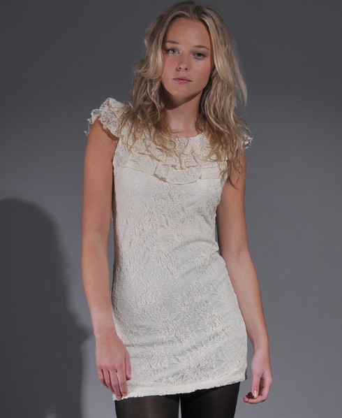 Cult Clothing Ruffle Neck Dress
