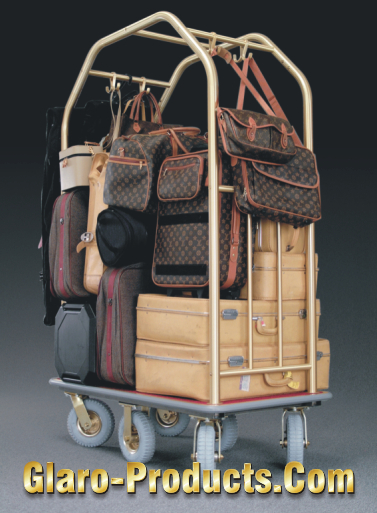 Classic Hotel Cart with Extensive Baggage