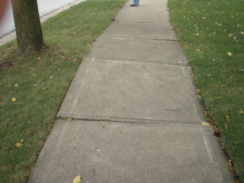 Similar to the sidewalk where I stubbed my toe while walking.  It's called Stub-Toe Trip Hazard.  Photo by Sidewalksaver.com