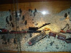 Dioramas of H.O. Train Layouts