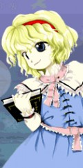 In game art of Alice Margatroid (touhou 7)